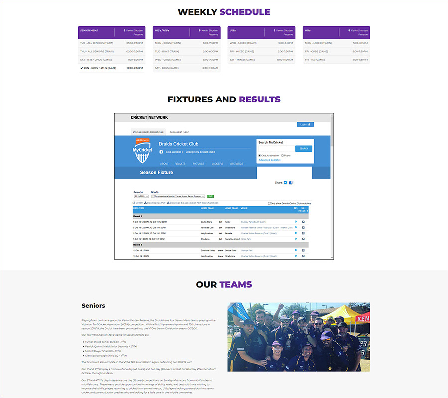 Sports Club Website